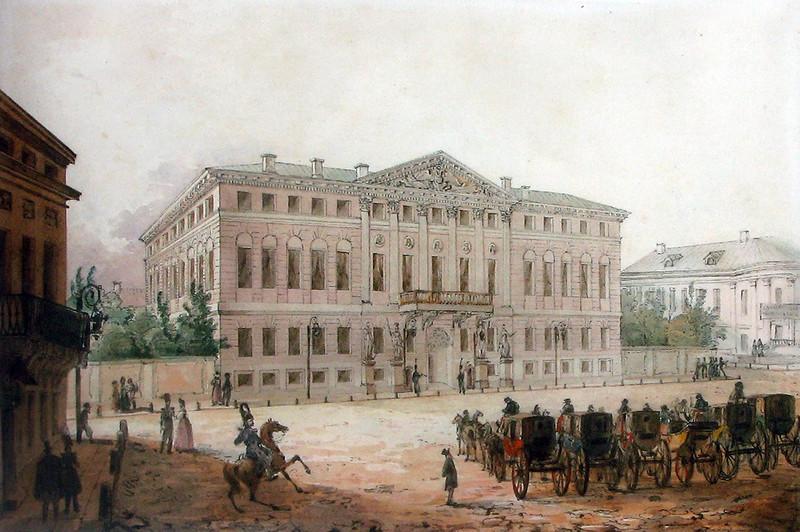 455566 Вид на дом военного генерал-губернатора в Москве нач. 1830-х Вивьен И.О..jpg