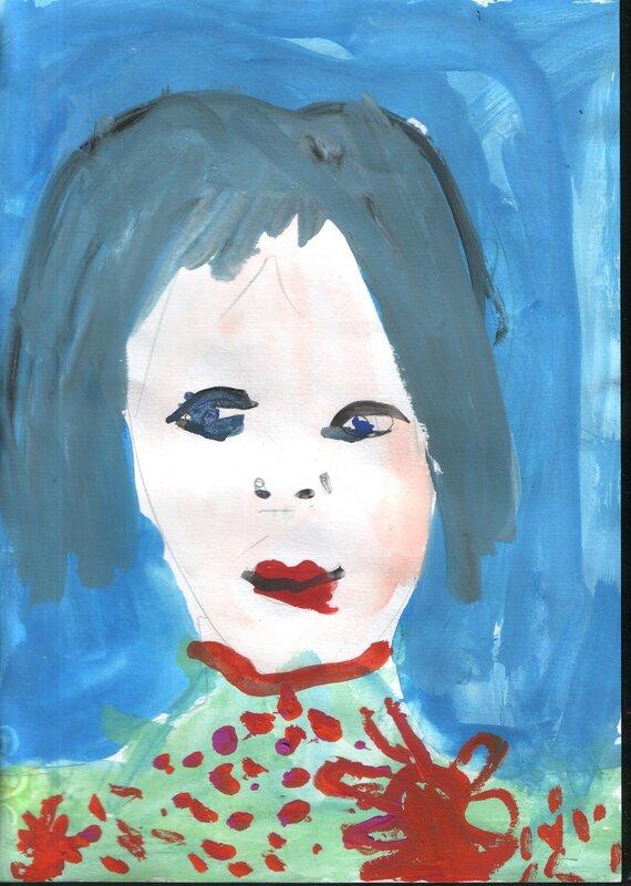 портрет детский рисунок
