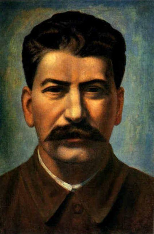Филонов.  Портрет И.В.Сталина (1936)Масло на холсте. Русский музей