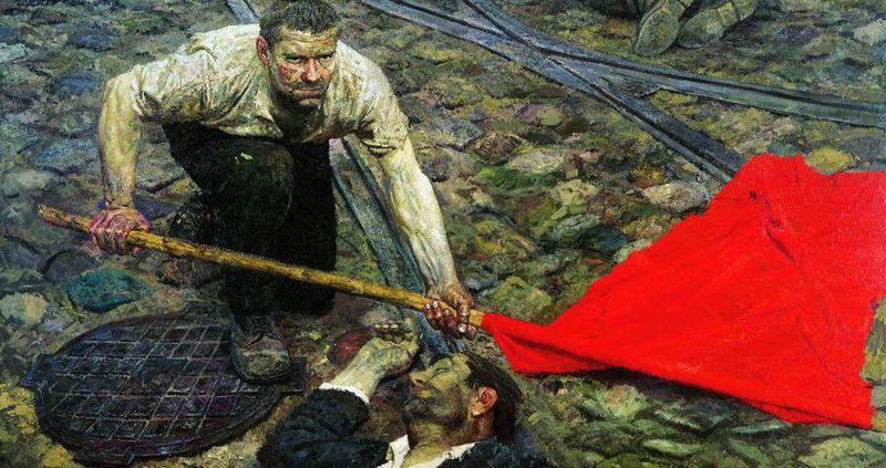 -Гелий Коржев. Поднимающий знамя. 1957–1960.jpg
