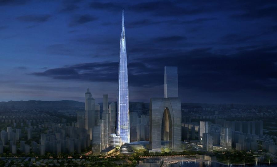 7. Чжуннань-центр в Сучжоу Количество этого 730-метрового центра в Китае началось не так давно и дол