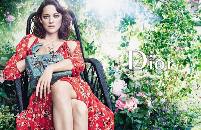 Марион Котийяр для рекламной кампании Lady Dior