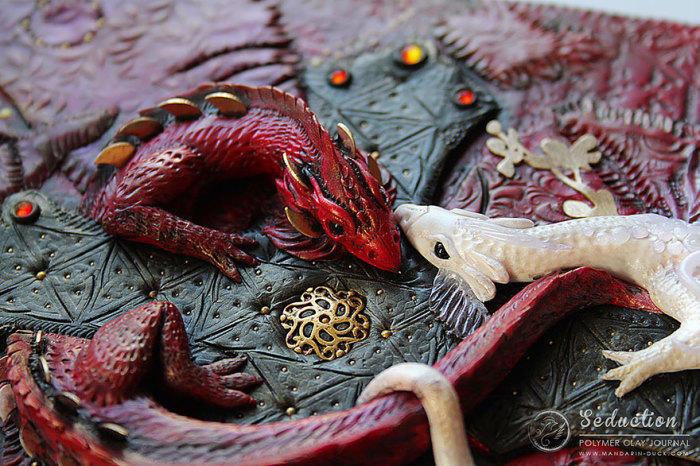 15. Драконы из полимерной глины от Mandarin Duck.