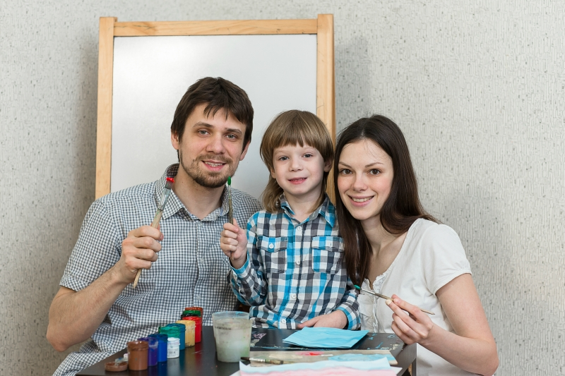 Happy family paint colors at home