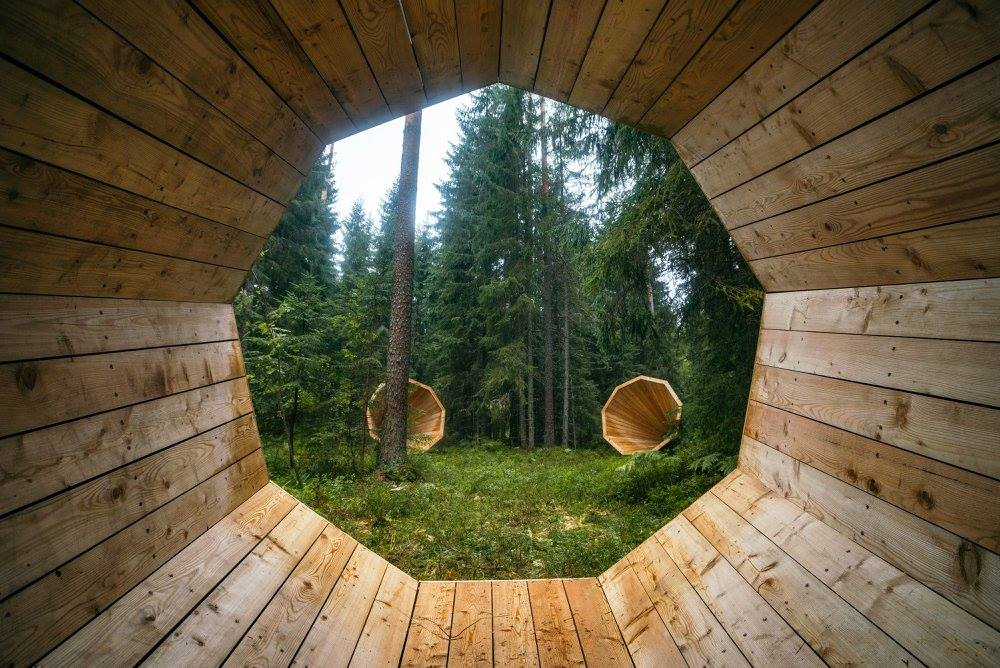 The soothing sounds of nature have never been easier to hear after a group of interior architecture