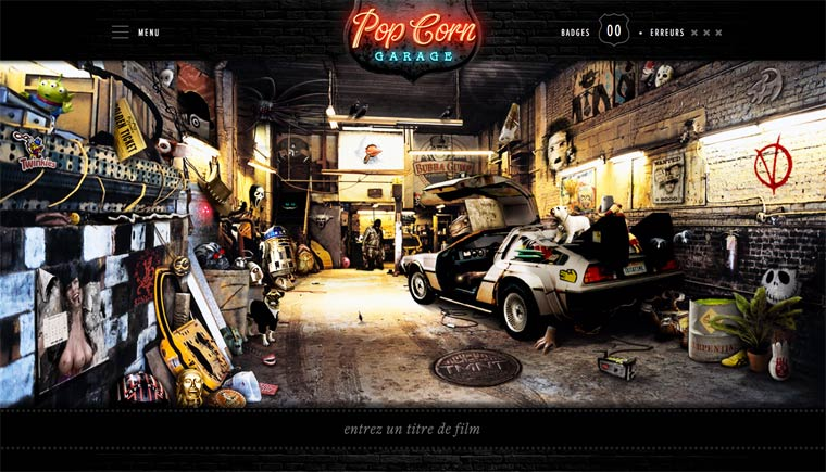 PopCorn Garage - 66 references to cult movies hidden in a single picture