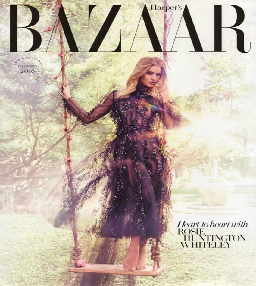 Rosie Huntington-Whiteley - Harper's Bazaar UK (September 2016)