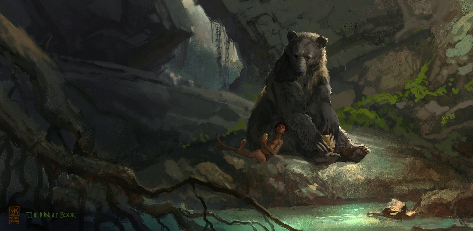The Jungle Book Concept Art by Vance Kovacs