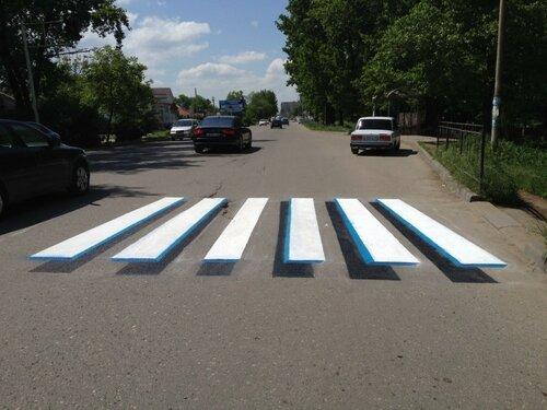 Вниманию водителей: в Молдове появились пешеходные 3D зебры