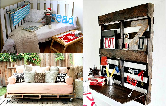 Простые и стильные предметы мебели, сделанные из паллет