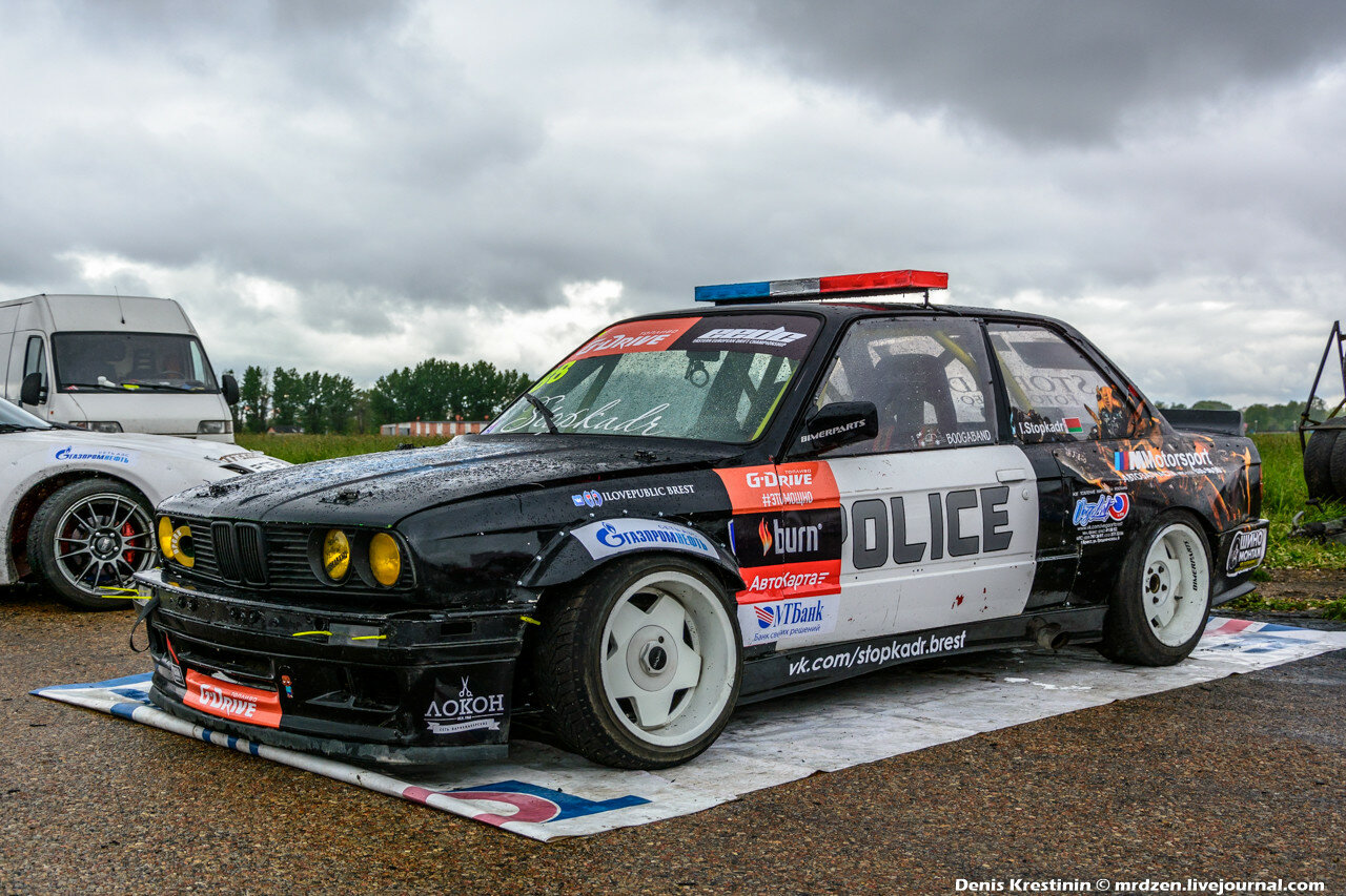 BMW Police drift car
