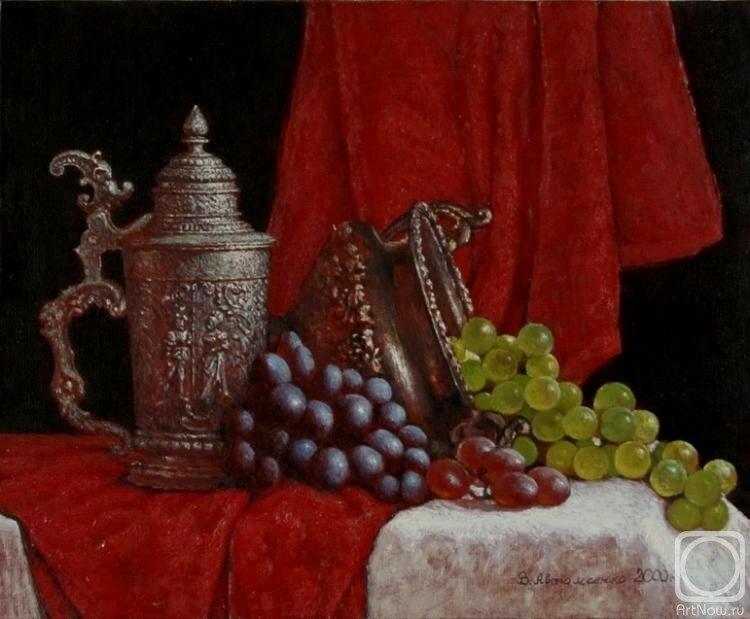 Живопись Автомеенко Валерия Викторовича. Натюрморт с виноградом