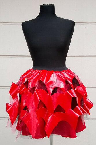 Женский карнавальный костюм Юбка красная волна