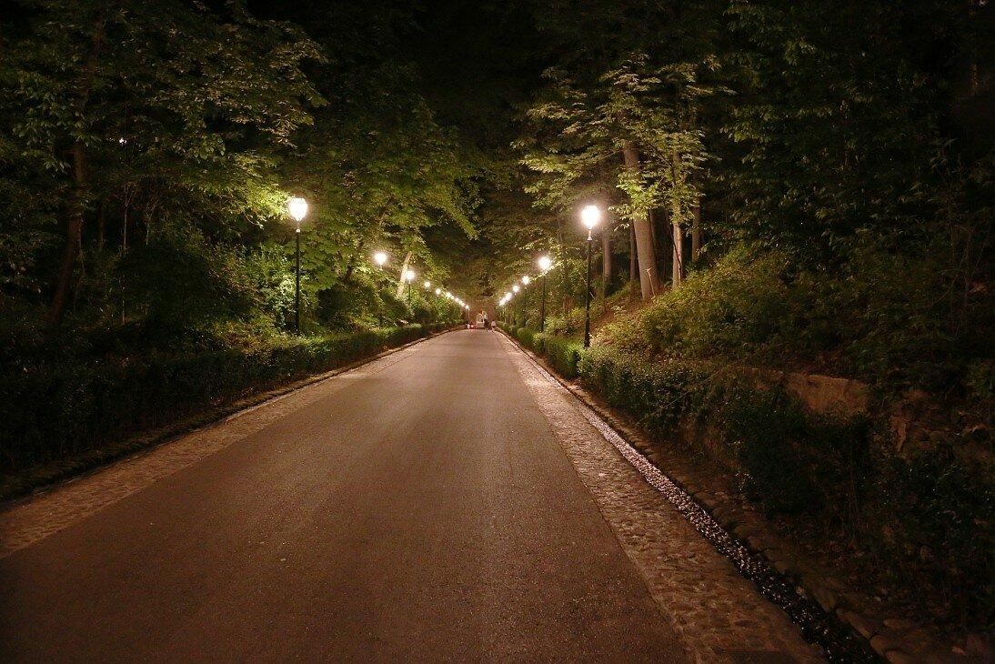 Гранада. Ночная Альгамбра