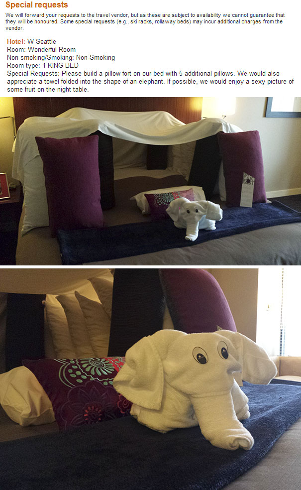 «Пожалуйста, постройте крепость на нашей кровати из пяти дополнительных подушек. Мы были бы также бл