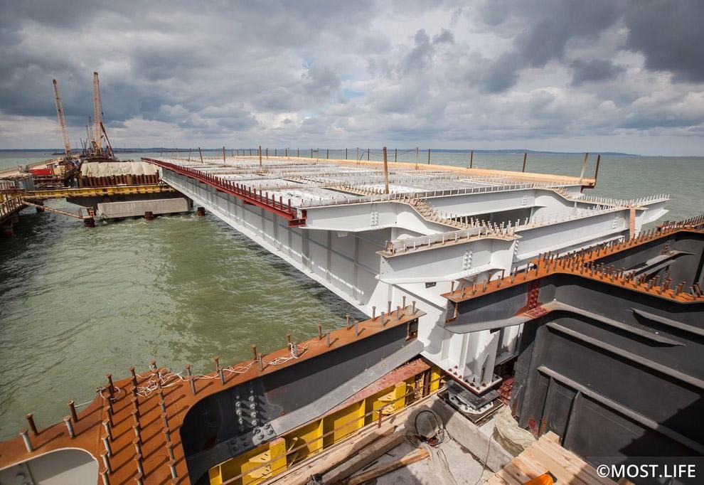 6. Укрупнительная сборка и установка на опоры металлоконструкций пролетных строений железнодорожного