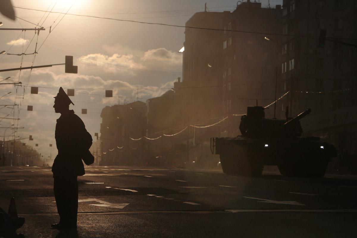 После Звенигородки техника свернула на улицу Красная Пресня.