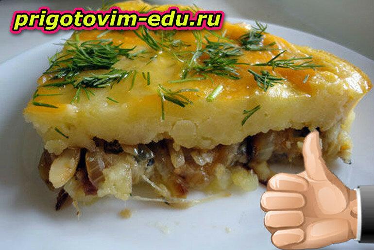 Картофельная запеканка с начинкой