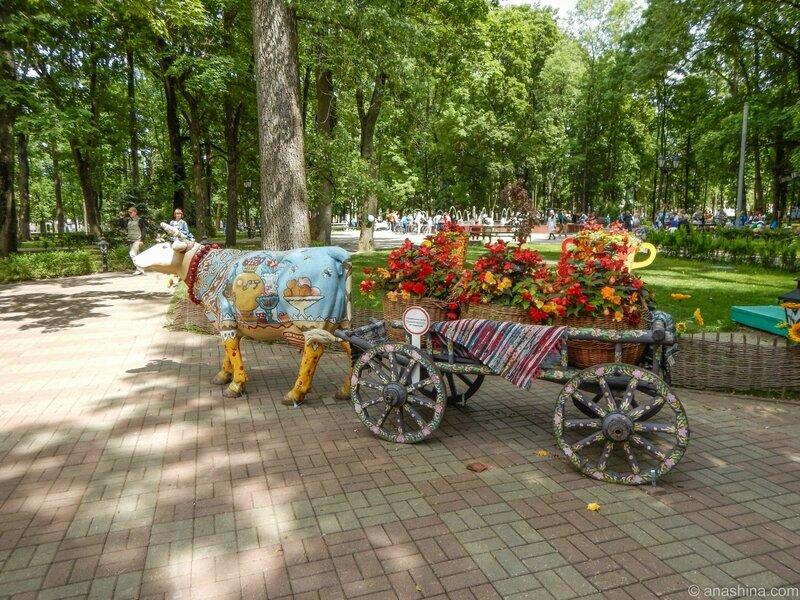 """Около кафе """"Русский двор"""", Смоленск, сад Блонье"""