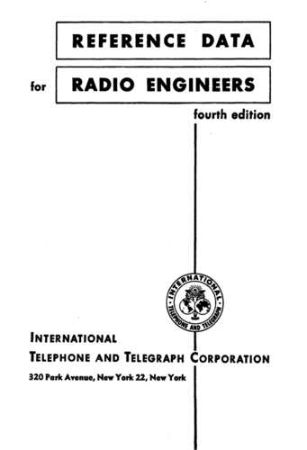 Reference Data For Radio Engineers - International Telephone and Telegraph Corp. - Book Cover