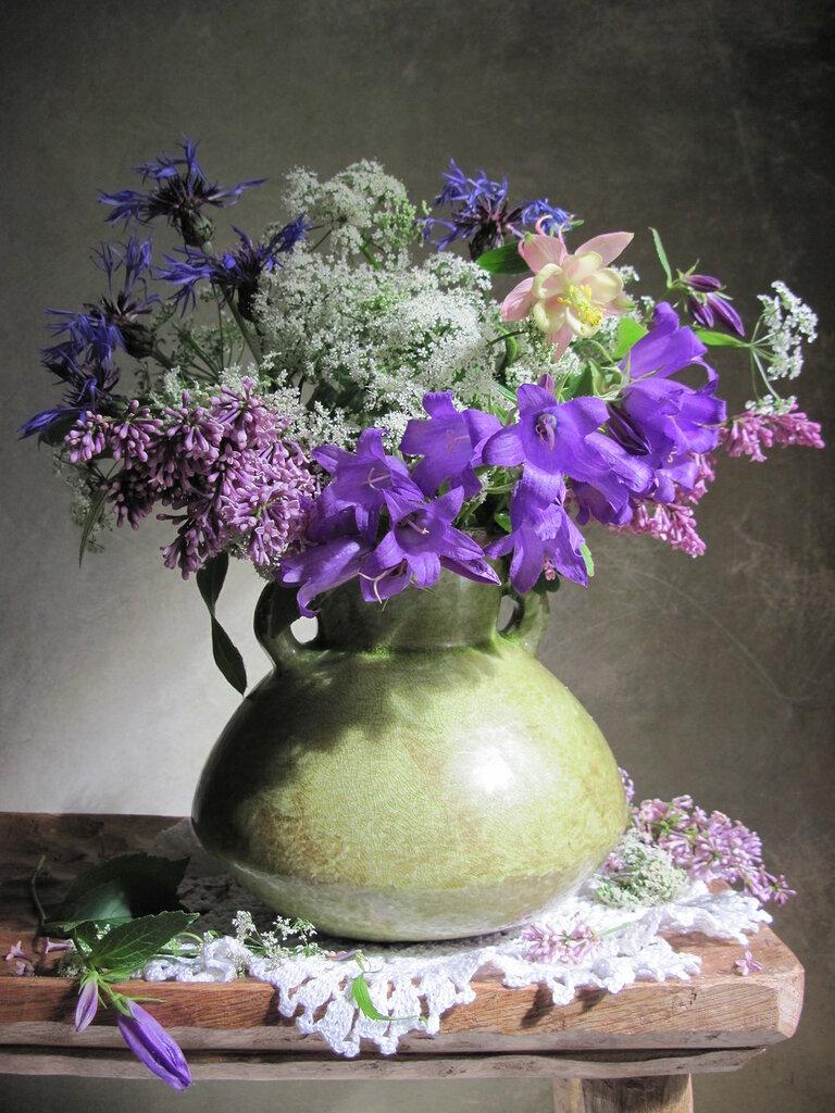 Из цветов луговых собрала я букет. Весенние натюрморты