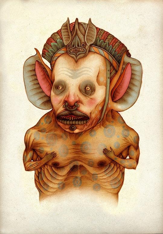 Disturbing Illustrations by Claudio Romo