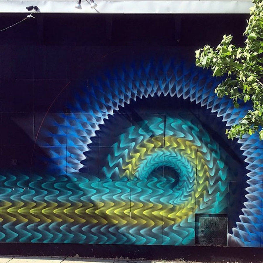 Impressive Kaleidoscopic Murals