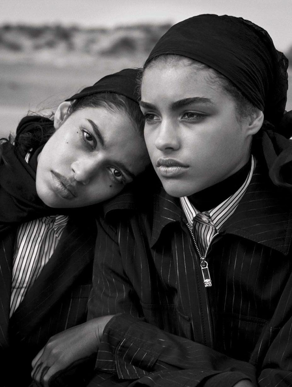 Unique Beauties - Elisa Sednaoui, Afif Jnifen, Pooja Mor, Samantha Ellsworth, Kenza Fourati by Peter Lindbergh - Vogue Italia april 2016
