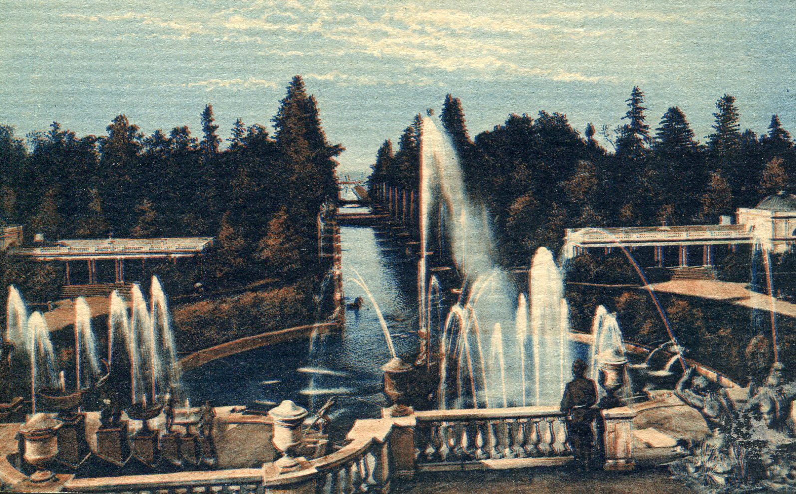 Самсониевский канал. Вид со стороны дворца