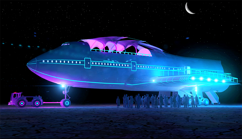 Boeing 747 на фестивале Burning Man (13 фото)
