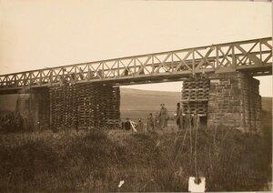 Вид восстановленного моста через реку Бялу.