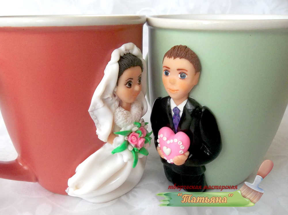 чашка с декором к годовщине свадьбы