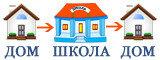 Схема дом-школа-дом