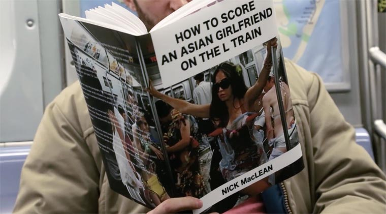 Reading hilarious fake books in the subway