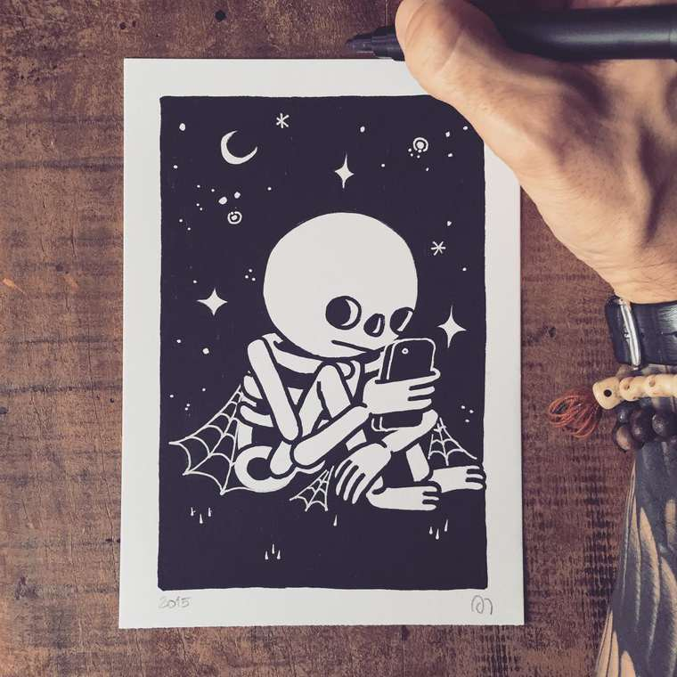 Street Art and Illustration - The adorable black and white creations by Muretz