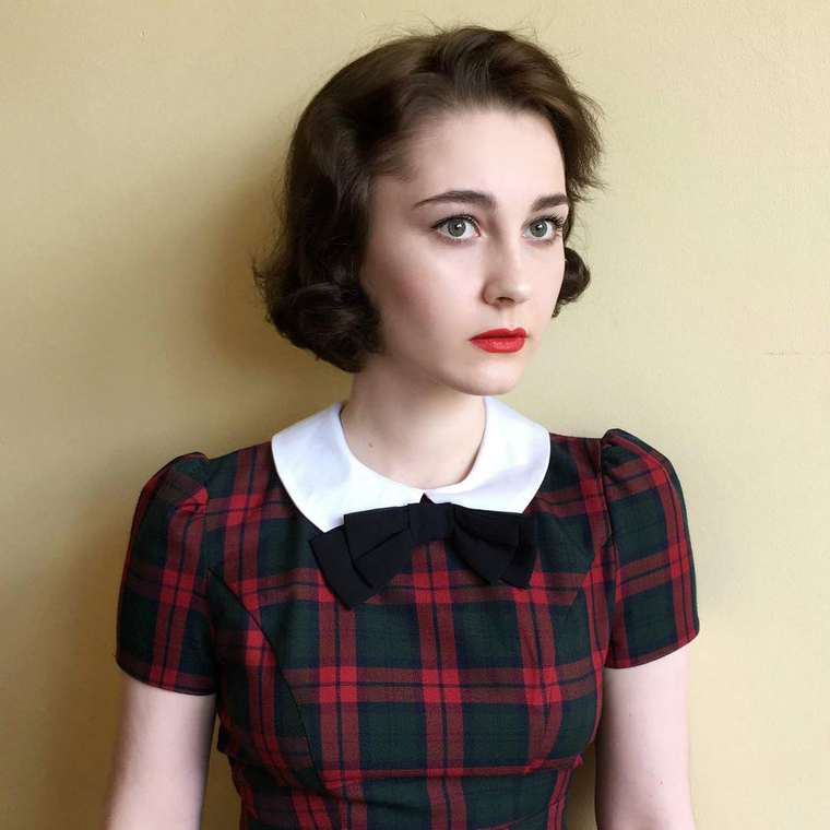 This young 17-year-old girl is having fun recreating famous vintage looks