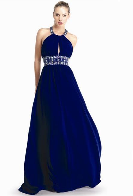 Синее вечернее платье Геонея