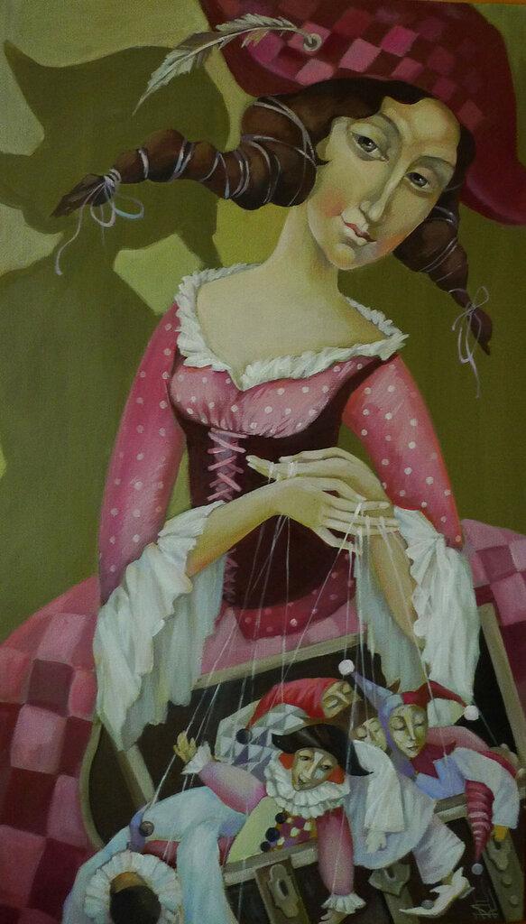 Куклы в картинах Киры Паниной