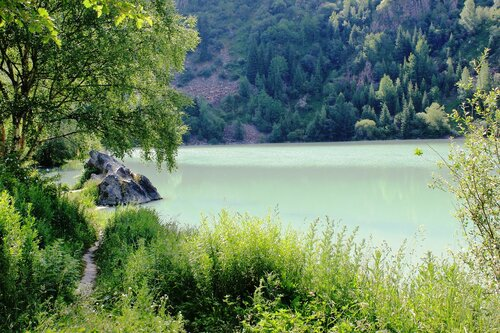 Тропинка вдоль озера