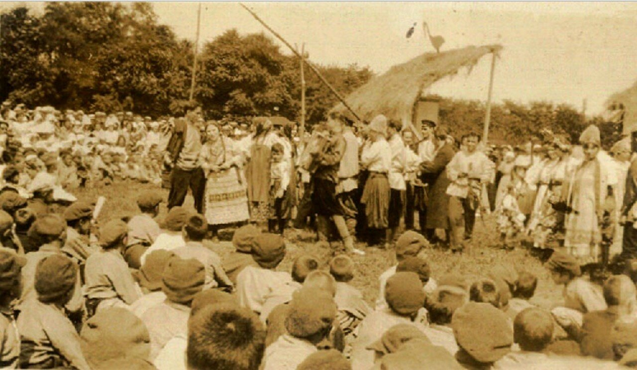 63. Вудс-Форт близ Нью-Йорка. Русские эмигранты устроили в честь колонии спектакль