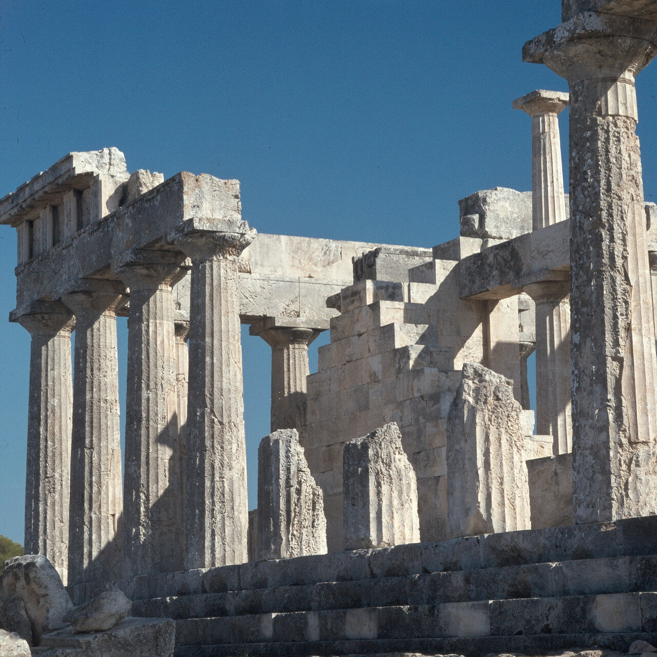 Эгина. Храм Афайи.  Северная сторона