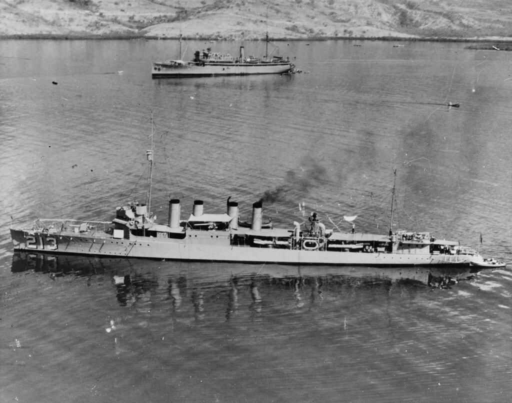 USS BARKER (DD-213). At Gonaives, Haiti, March 1928.