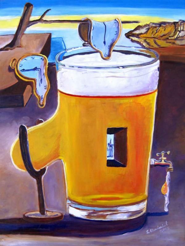 Пит Мондриан и композиция с черным, красным, желтым и пинтой.