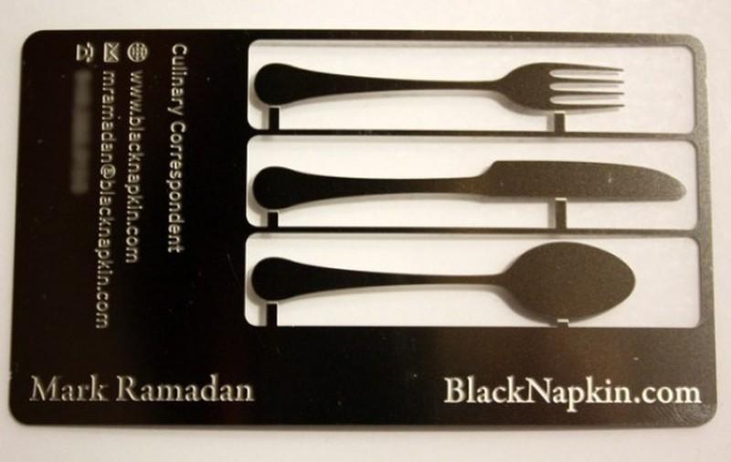 Кулинарный блог Эта визитка превращается в набор кухонных принадлежностей, которые можно использоват