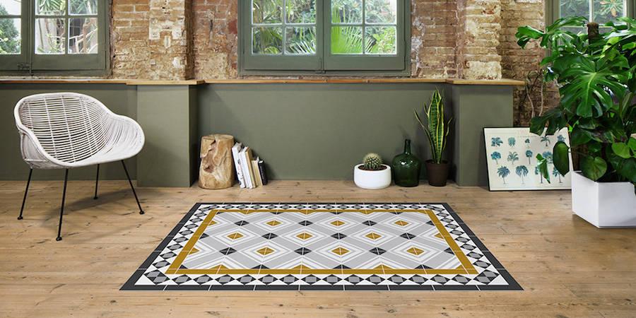 Современные ковры с яркими узорами (12 фото)