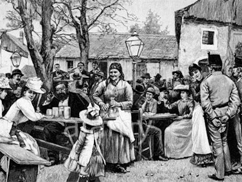 7. Потение в сельской Австрии в 19-м веке В 19-м веке в сельской Австрии незамужние женщины пускалис