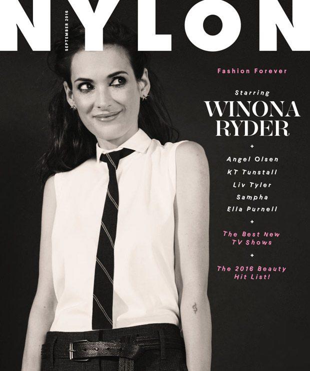 Вайнона Райдер в Nylon Magazine