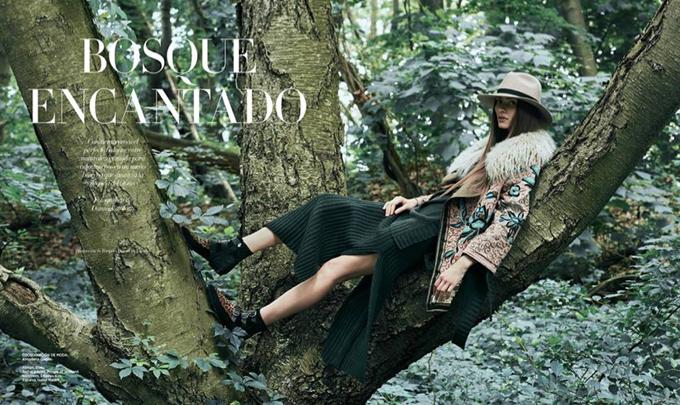 Марин Делиу на обложке Harper's Bazaar (9 фото)