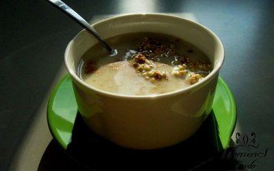 Овощной суп с яйцом и гречкой