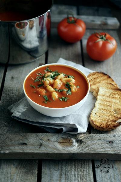 Очень полезный и вкусный томатный суп